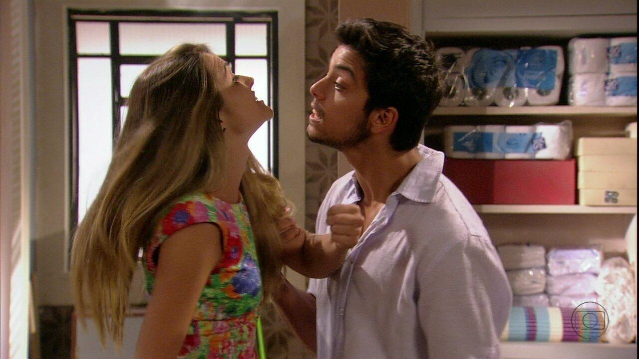 Bruno vai tirar satisfações com Fatinha