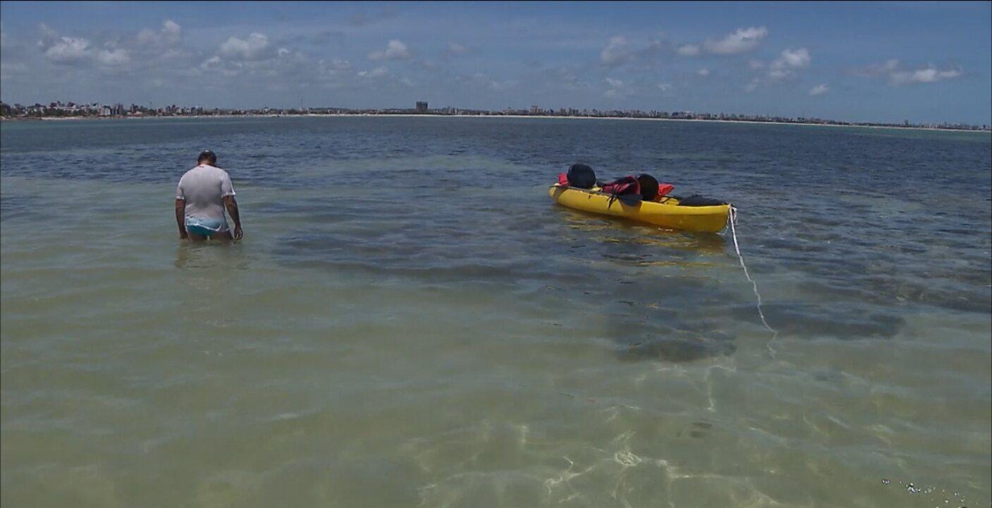 'Caribessa' oferece passeio com mergulho e visitata aos corais na praia do Bessa, em João Pessoa