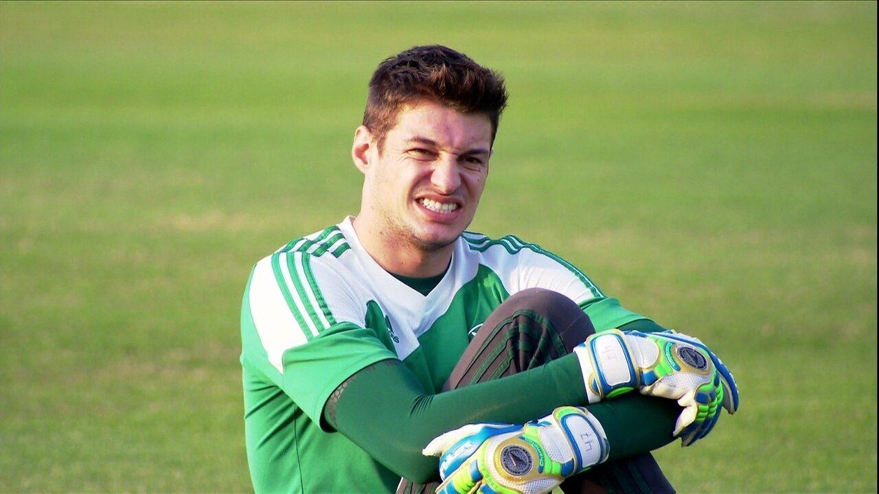 Veja reportagem especial do GE sobre o goleiro Fabio, então titular do Palmeiras, em 2014