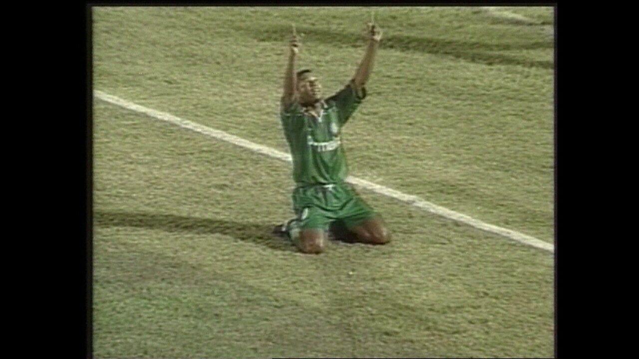 Em 1999, Palmeiras goleia o Cerro Porteño por 5 a 2 pela Taça Libertadores