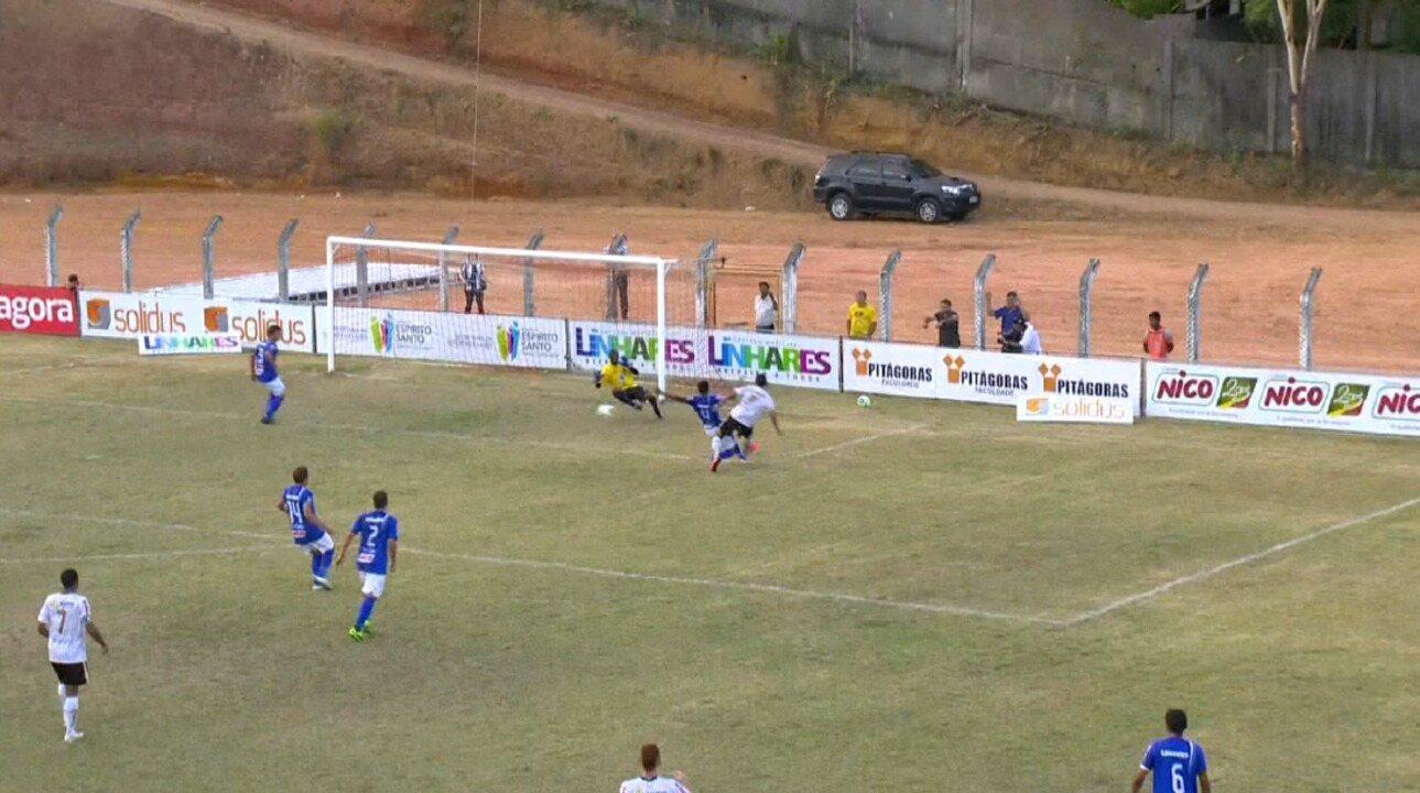 O gol do título do Campeonato Capixaba 2014 do Estrela, marcado por Geraldo