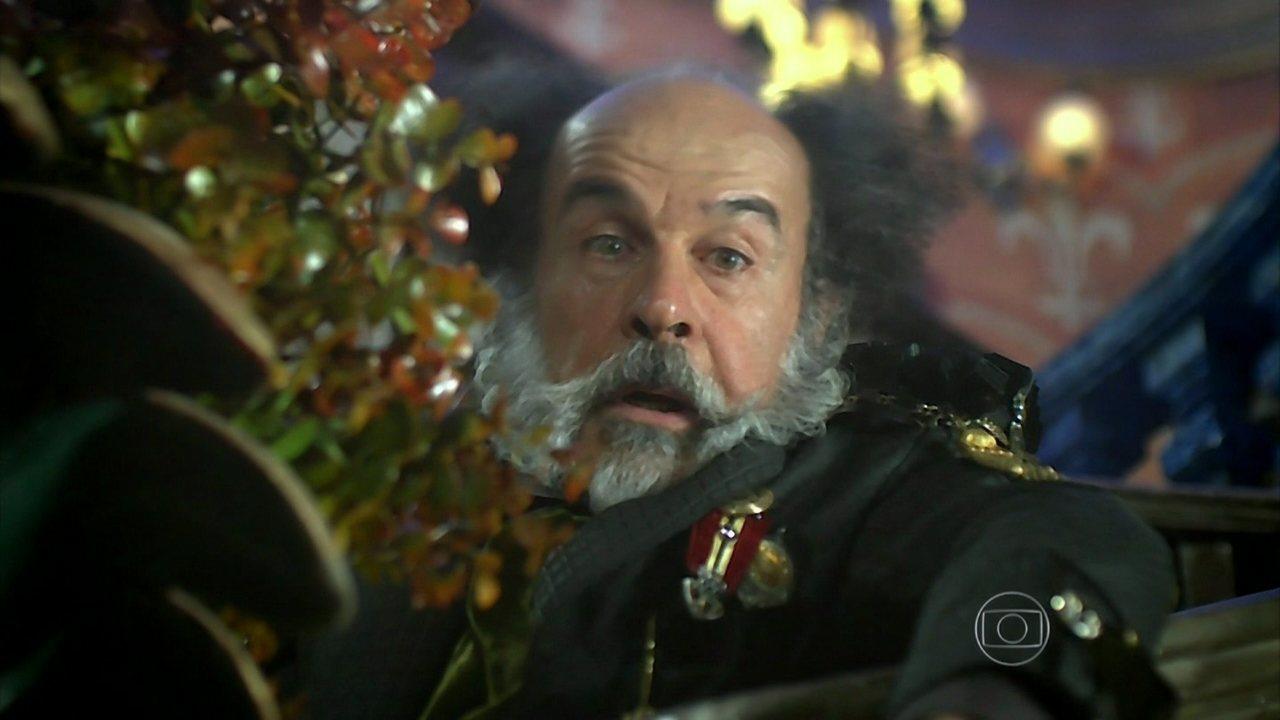 Meu Pedacinho de Chão - Capítulo de Sábado, 07/06/2014, na íntegra - Epaminondas ameaça deserdar Ferdinando caso ele se apaixone por Gina