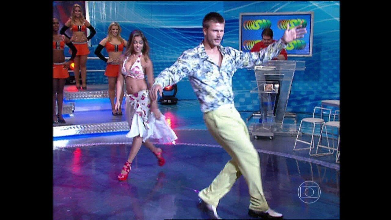 Relembre momentos de Rodrigo Hilbert no 'Dança' de 2007