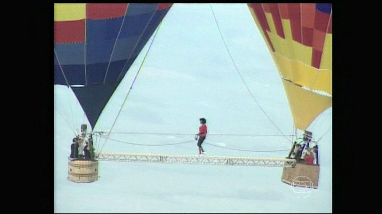 Domingão do Faustão | Glória Maria relembra travessia em balão no Domingão | Globo Play