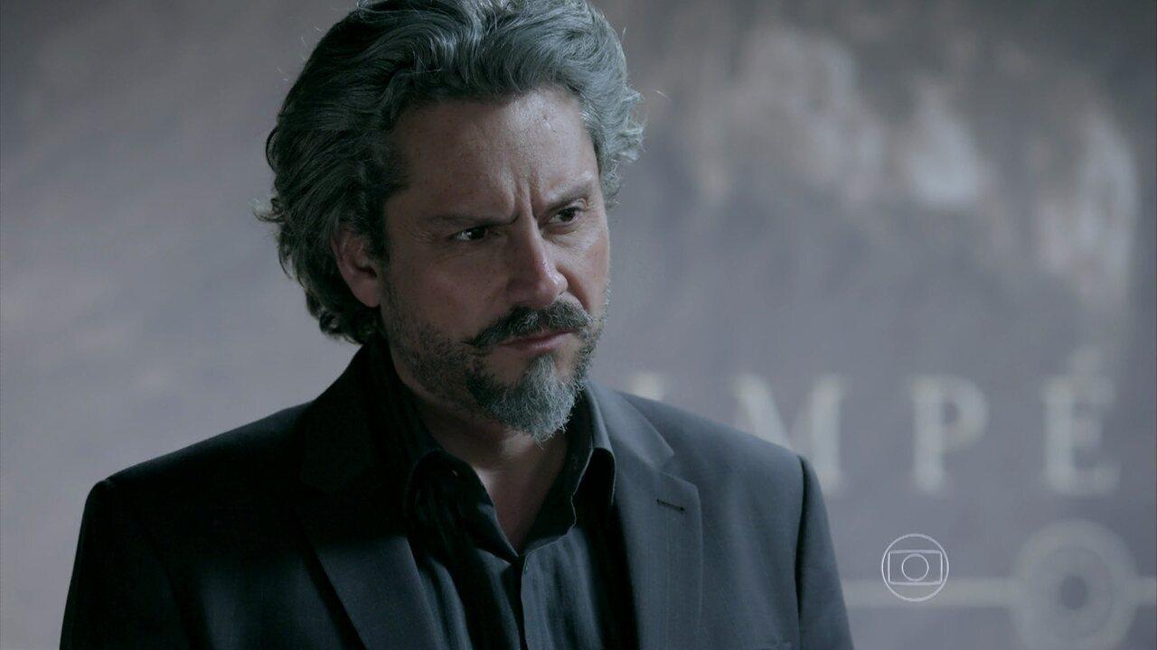 Império - Capítulo de quinta-feira, dia 20/11/2014, na íntegra - Reginaldo negocia diamante rosa com Zé Alfredo