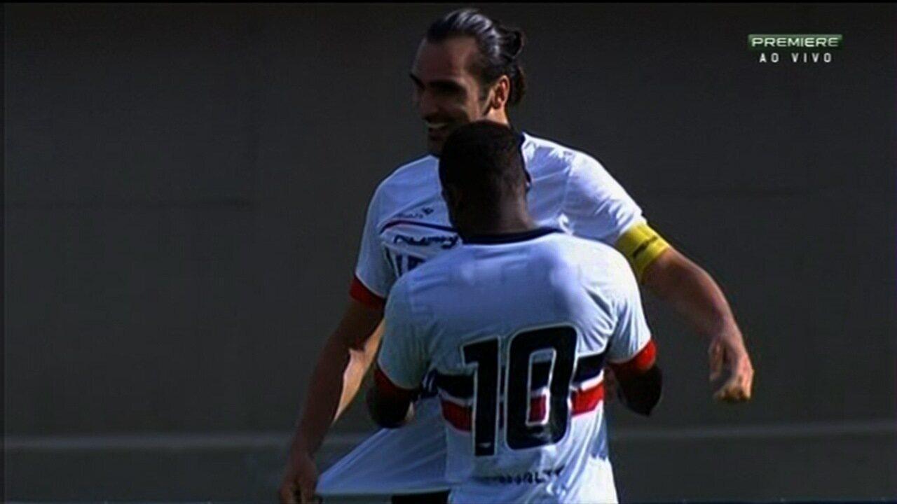 Gol do Santa Cruz! Léo Gamalho vira o jogo contra o Atlético-GO