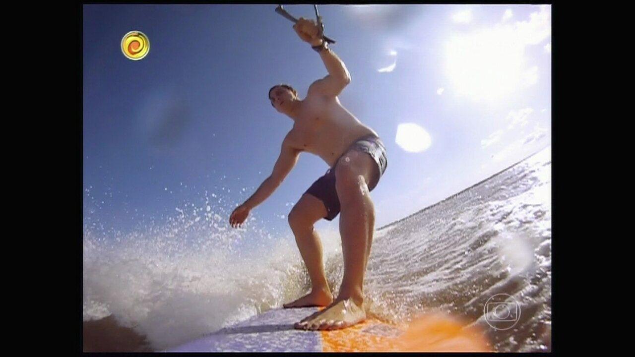 Arquivo de verão: Relembre aventura de famosos com Huck na Pororoca