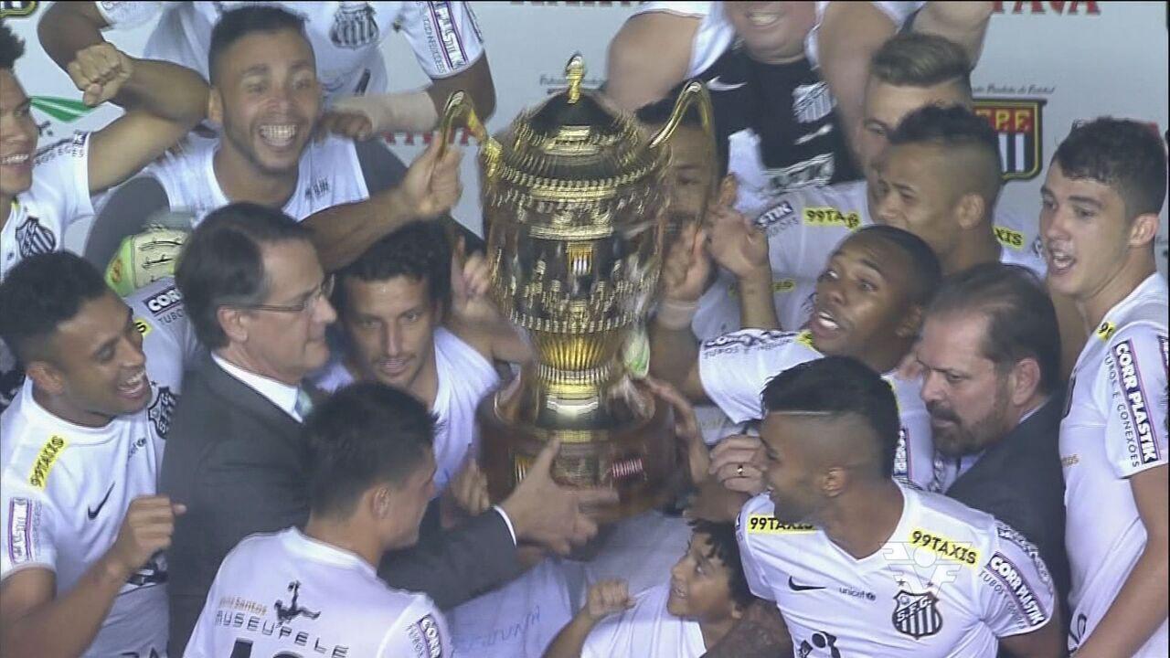 Santos vence Palmeiras nos pênaltis e é campeão paulista de 2015