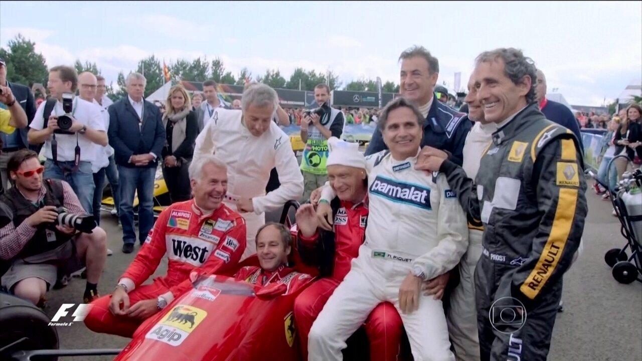 Desfile de lendas: Piquet, Lauda e Prost guiam carros clássicos na Áustria