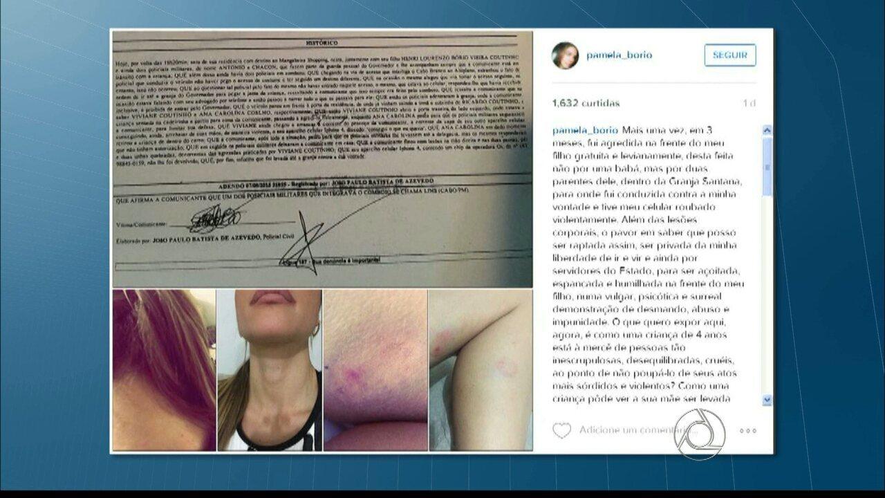 Ex-primeira-dama da Paraíba diz que foi agredida na residência oficial do governador
