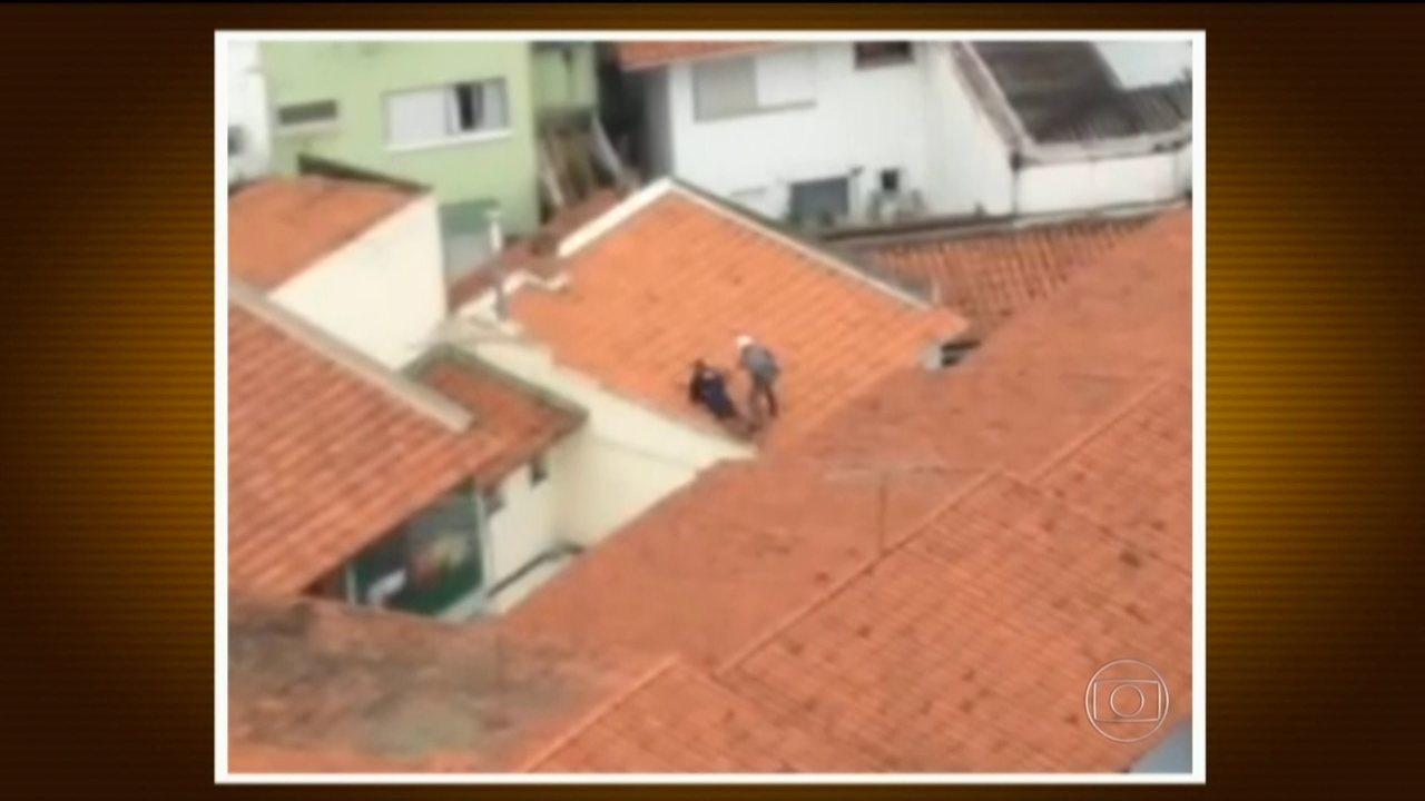 Câmeras de segurança mostram ação de policiais militares em SP