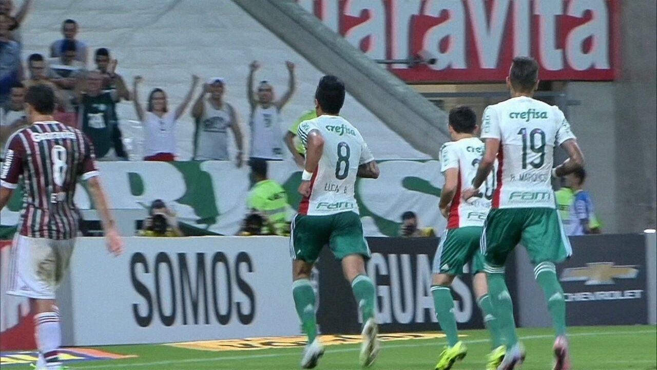 Os gols de Fluminense 1 x 4 Palmeiras pela 26ª rodada do Brasileirão 2015