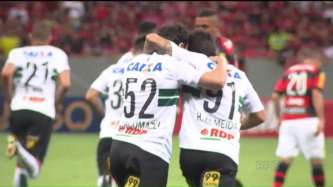 Coritiba vence o Flamengo e cala o Mané Garrincha