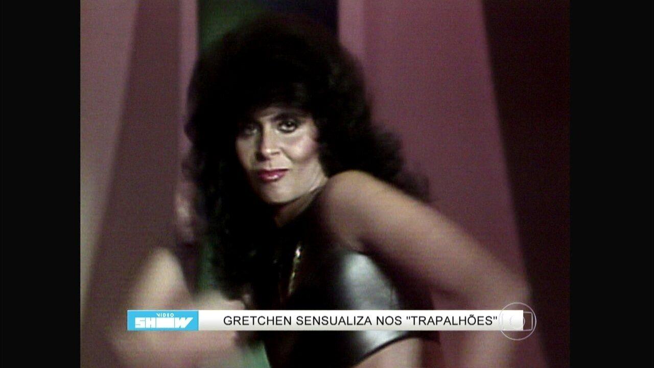 Reveja Gretchen sensualizando em Os Trapalhões