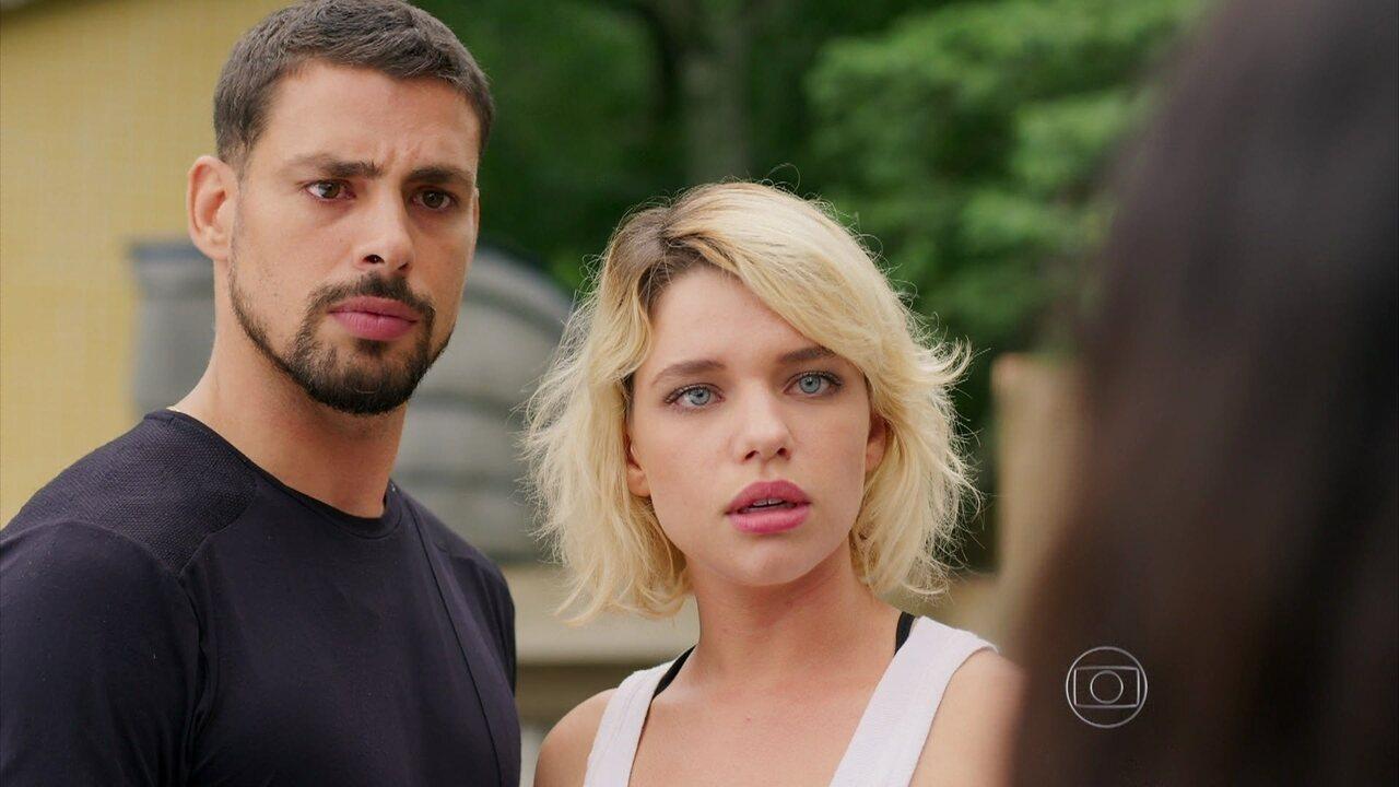A Regra do Jogo - Capítulo de terça-feira, dia 27/10/2015, na íntegra - Juliano inventa para Tóia que está namorando Belisa