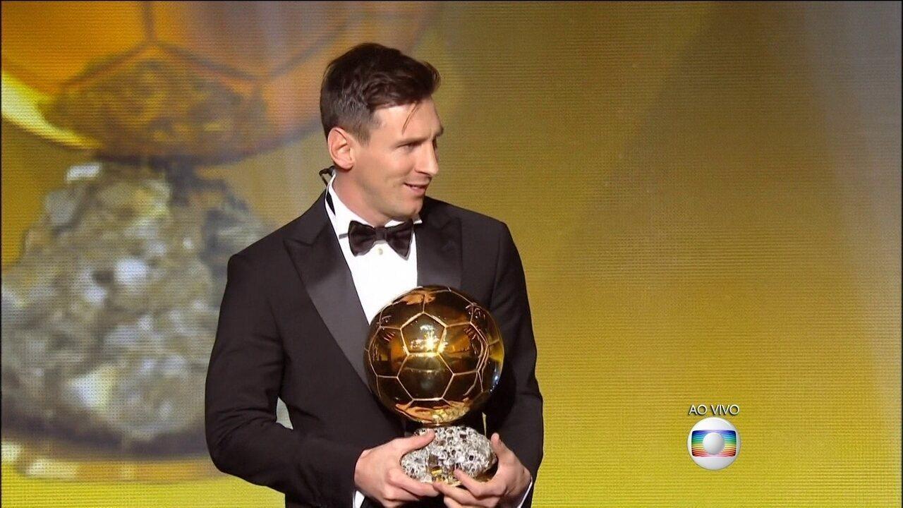 Bola de Ouro 2015: Messi é eleito o melhor jogador do mundo pela quinta vez