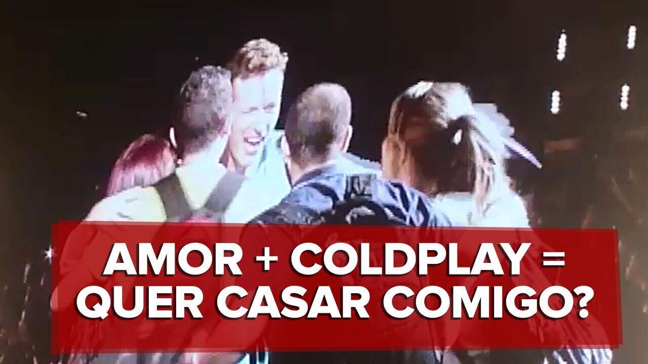 Show do Coldplay em SP tem dois pedidos de casamento