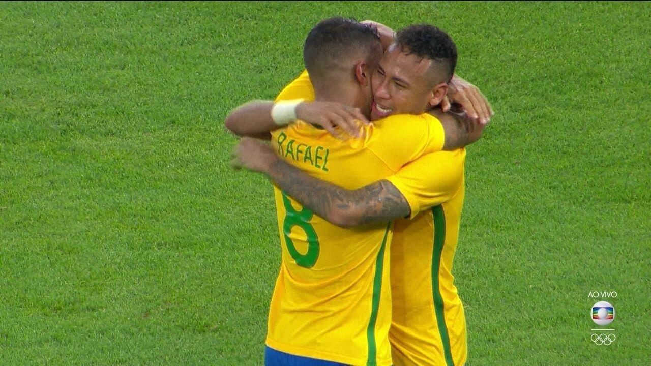 Gol do Brasil! Neymar converte o pênalti do ouro brasileiro