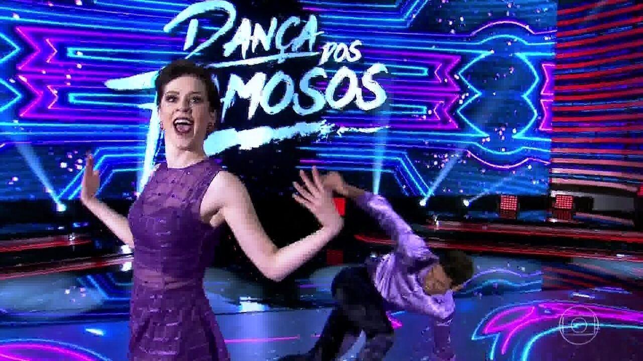 Sophia Abrahão é a última a dançar no baladão do 'Domingão'
