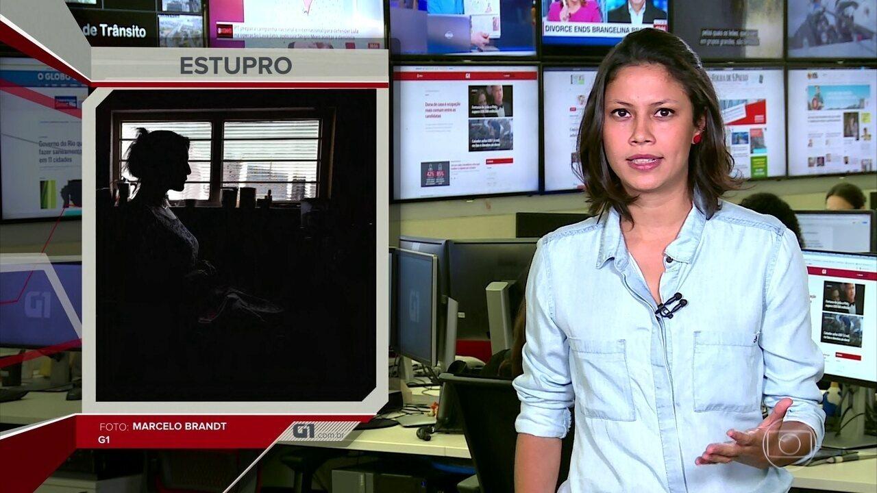 G1 em 1 Minuto: um em cada três brasileiros acha que a culpa do estupro é da mulher