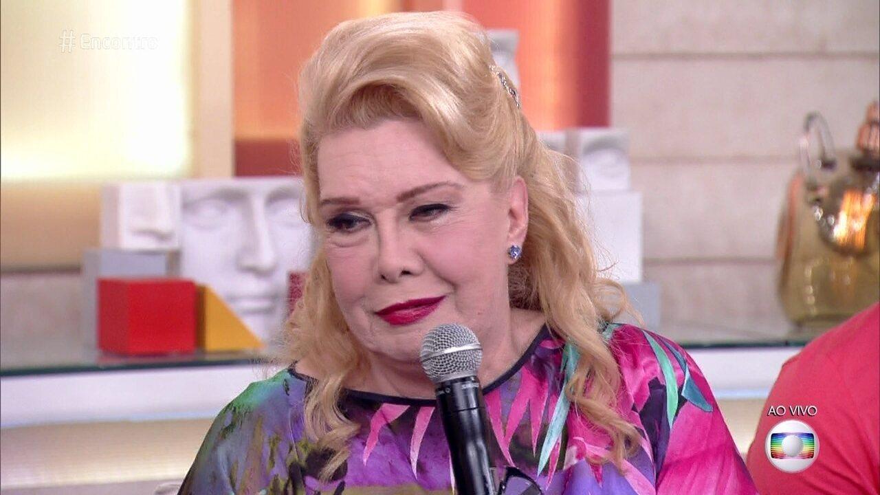 Rogéria divulgou sua biografia no 'Encontro com Fátima Bernardes'