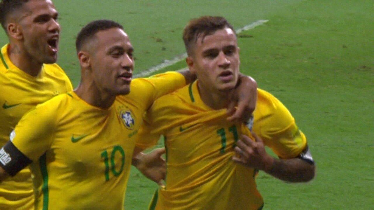 Os gols de Brasil 3 x 0 Argentina pelas Eliminatórias da Copa