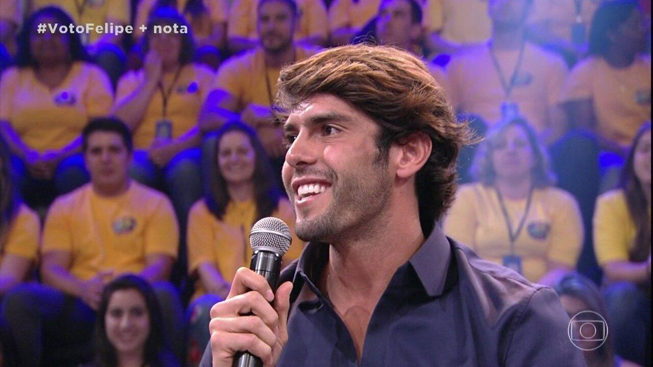 No Domingão do Faustão, Kaká não descarta encerrar carreira no São Paulo