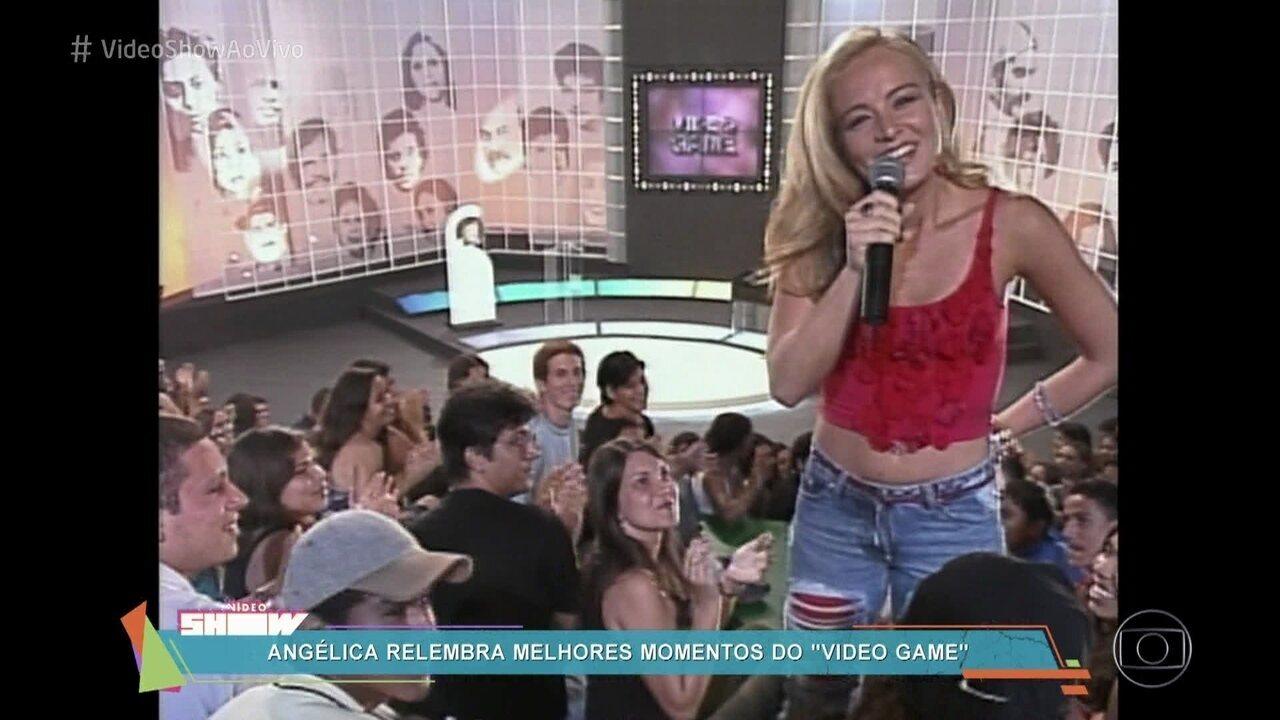 Angélica relembra melhores momentos do 'Vídeo Game'