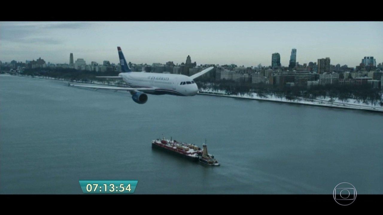 Filme que reconta pouso de avião em um rio de Nova York estreia em SP