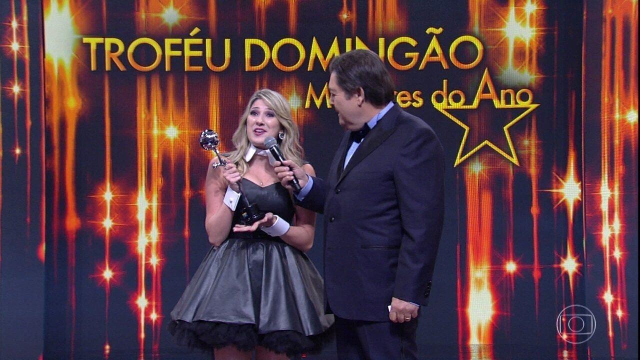 Dani Calabresa vence o prêmio na categoria Comédia