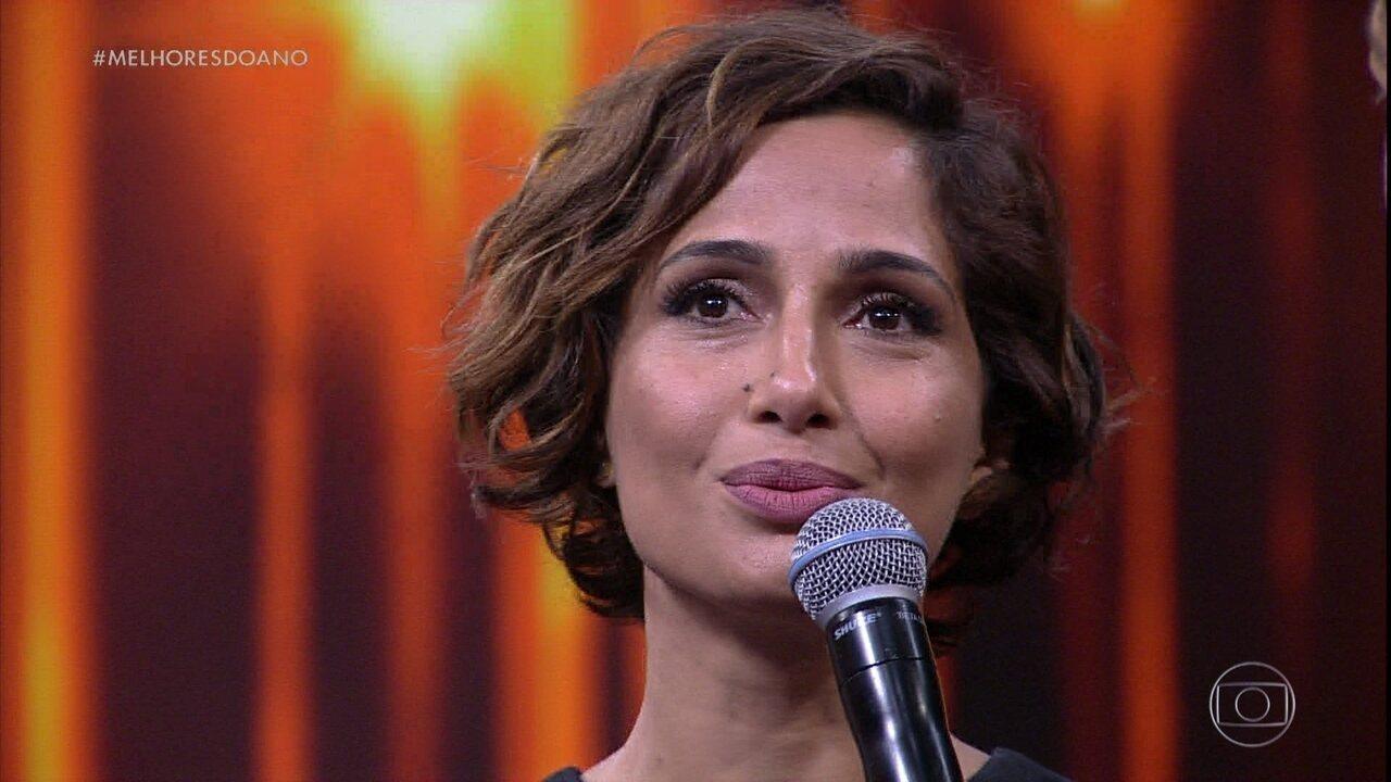 Camila Pitanga vence como melhor Atriz de Novela de 2016