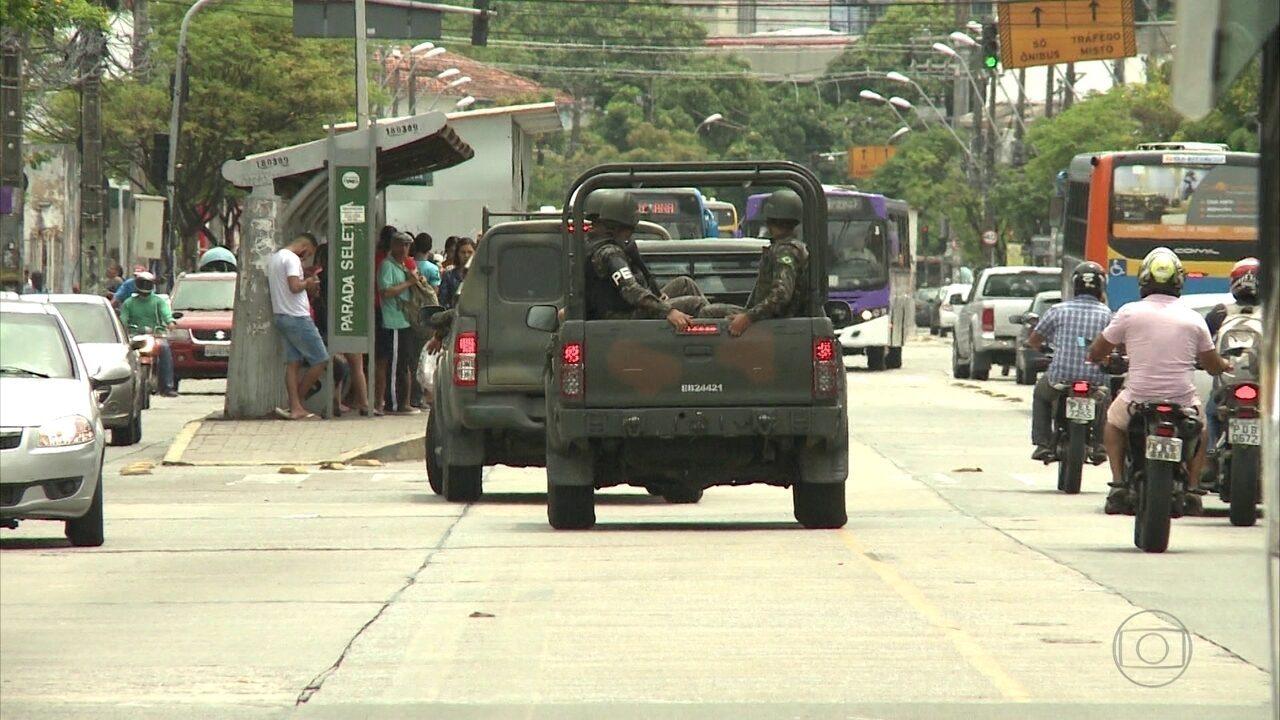 Presença das Forças Armadas nas ruas do Grande Recife completa dez dias