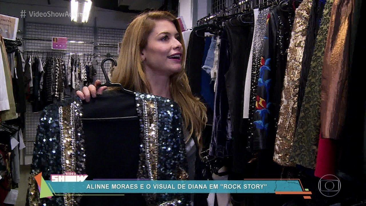 Alinne Moraes mostra o look de Diana em 'Rock Story'