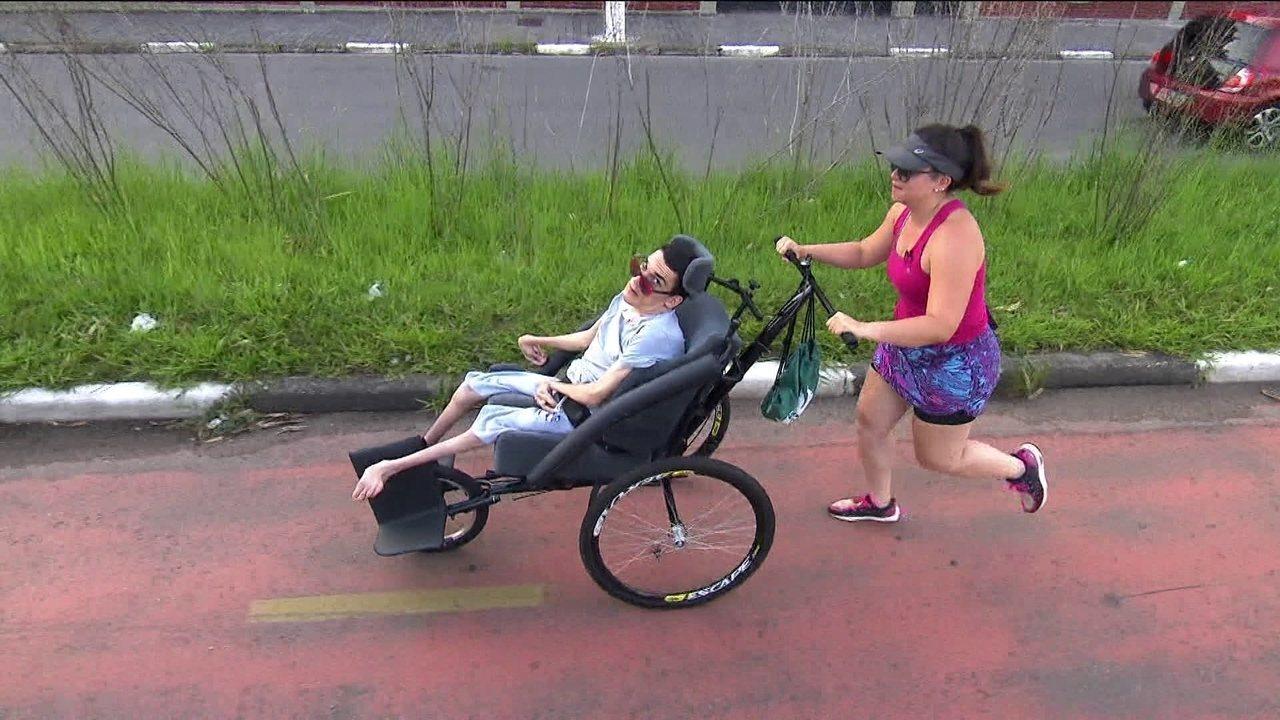 Rapaz que teve paralisia cerebral vai tentar, pela primeira vez, completar a São Silvestre