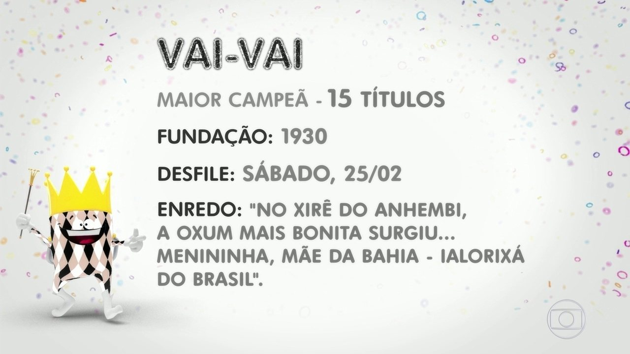 Enredo da escola de samba Vai-Vai de 2017 fala sobre a Mãe Menininha do Gantois