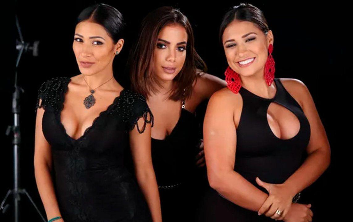 Simone & Simaria gravam clipe com Anitta; assista ao making of de 'Loka'