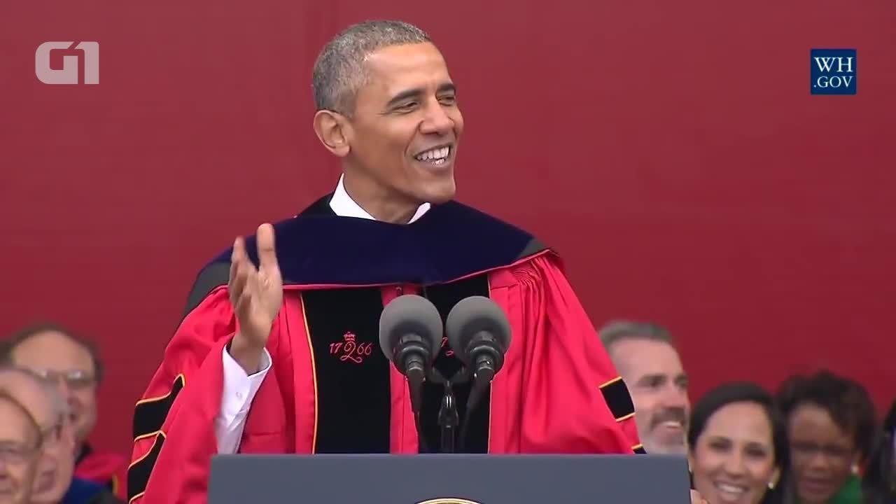 Obama discursa na universidade Rutgers (em inglês)