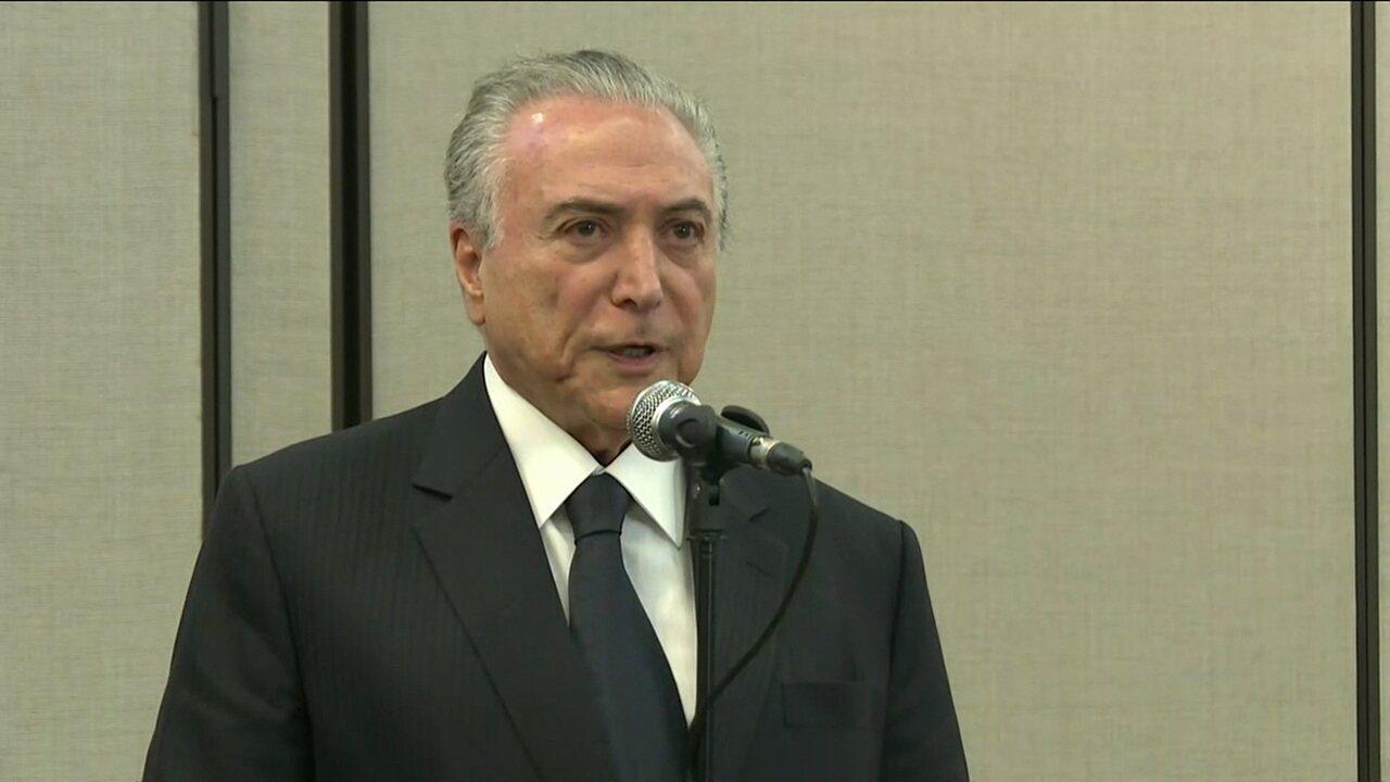Presidente Michel Temer participa do velório do ministro Teori Zavascki, no RS