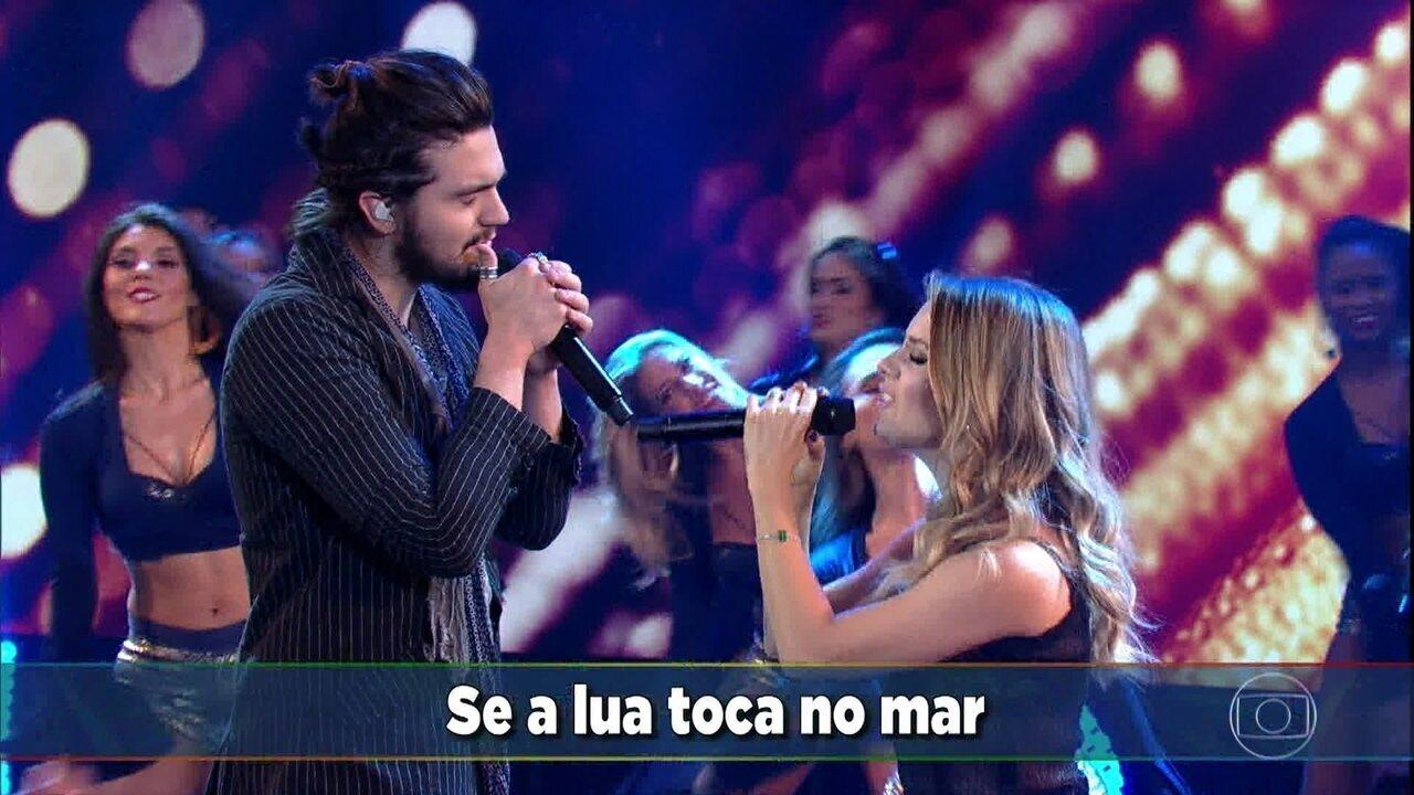Luan Santana e Sandy cantam 'A Lenda'