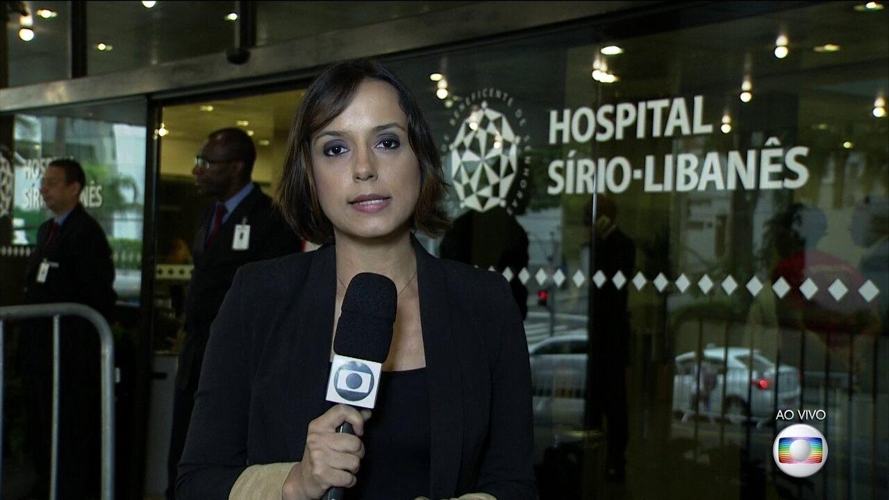 Dona Marisa não tem mais circulação sanguínea no cérebro, dizem médicos