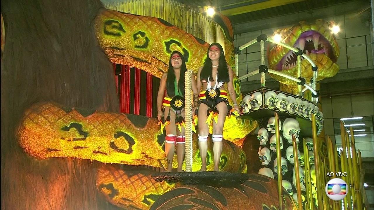 Imperatriz Leopoldinense promete levar índios do Xingu para o desfile na Sapucaí