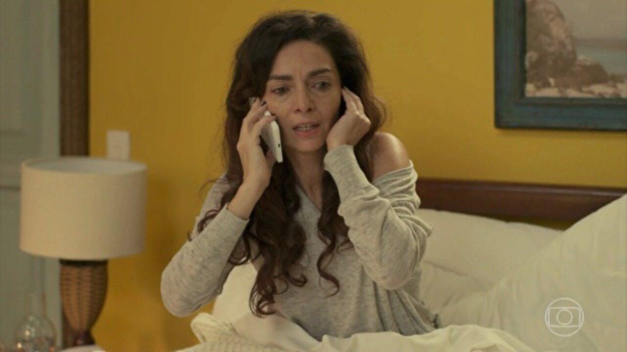 Sol Nascente - capítulo de quinta-feira, dia 09/02/17, na íntegra - Milena descobre que passou no vestibular e todos comemoram. Carolina consegue registrar Cesar confessando todos os seus crimes com a câmera escondida. Louzada acusa Alice de possuir um cassino clandestino.