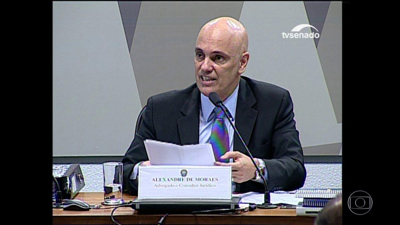 CCJ do Senado aprova ministro da Justiça licenciado Alexandre de Moraes para o STF