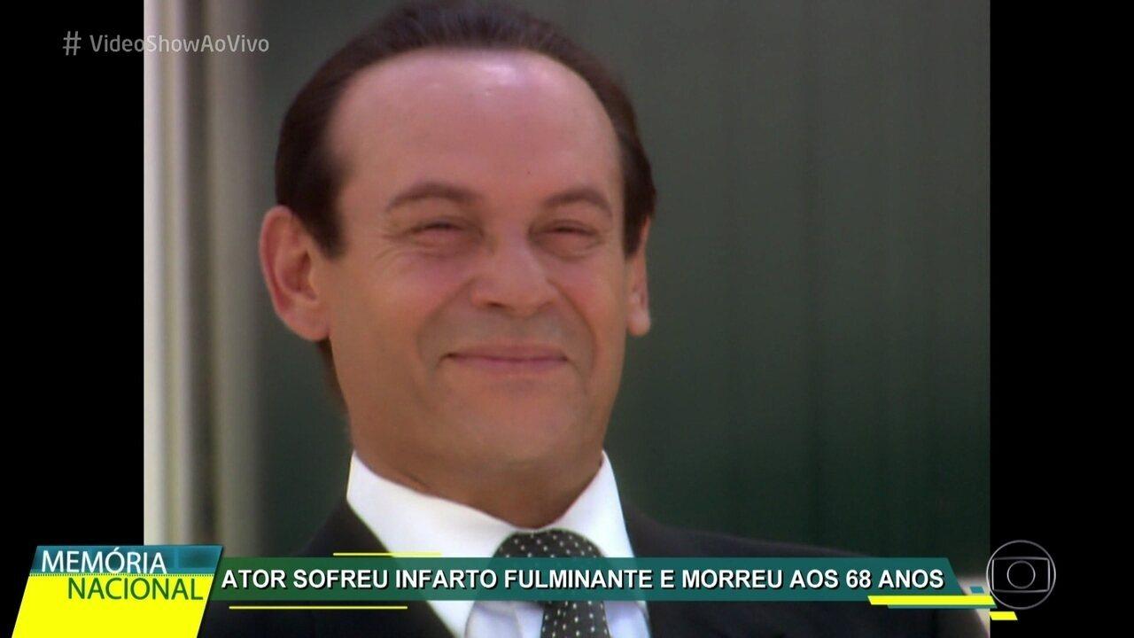José Wilker é homenageado no quadro 'Memória Nacional'