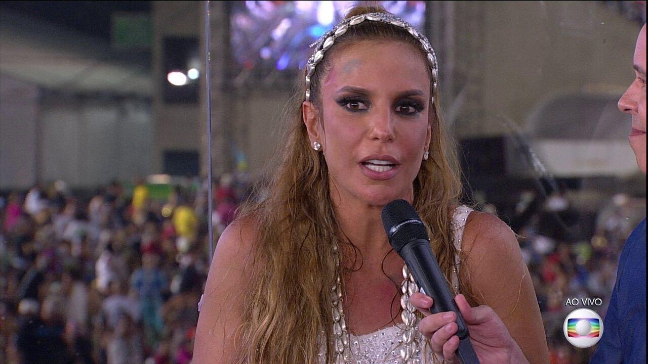 Ivete Sangalo fala sobre a emoção de desfilar pela Grande Rio