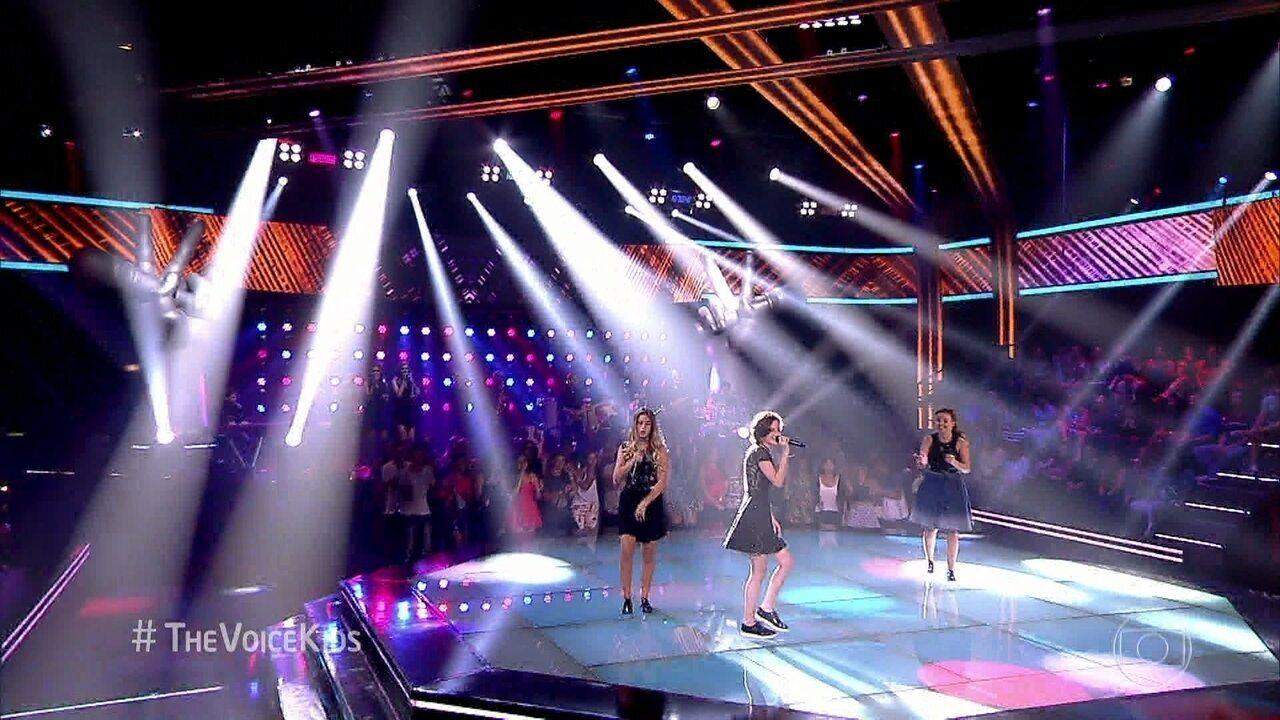 Denise Salvi, Mila Marinho e Steici Lauser cantam 'Can't stop the feeling'
