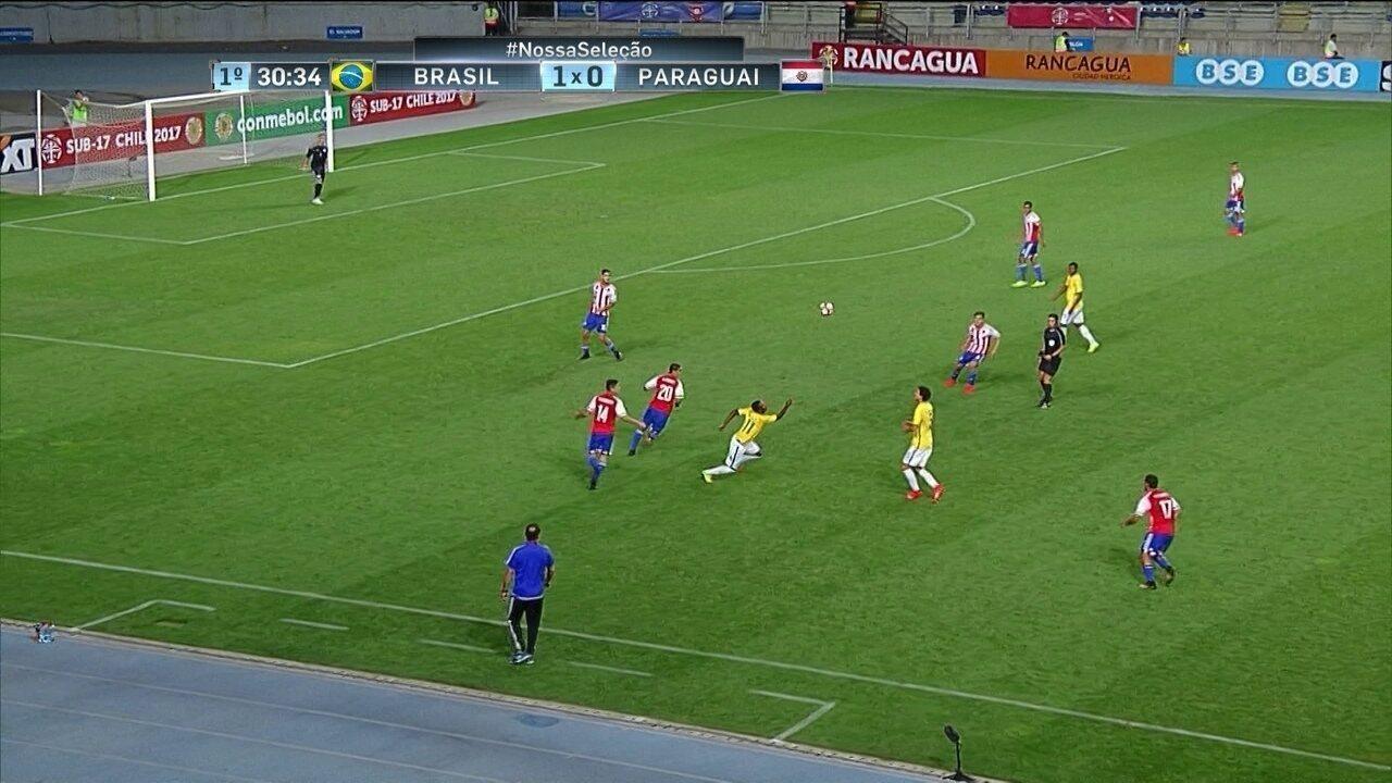 Três chapéus seguidos de Vinicius Junior contra o Paraguai, no Sul-Americano Sub-17, foi destacado pela revista