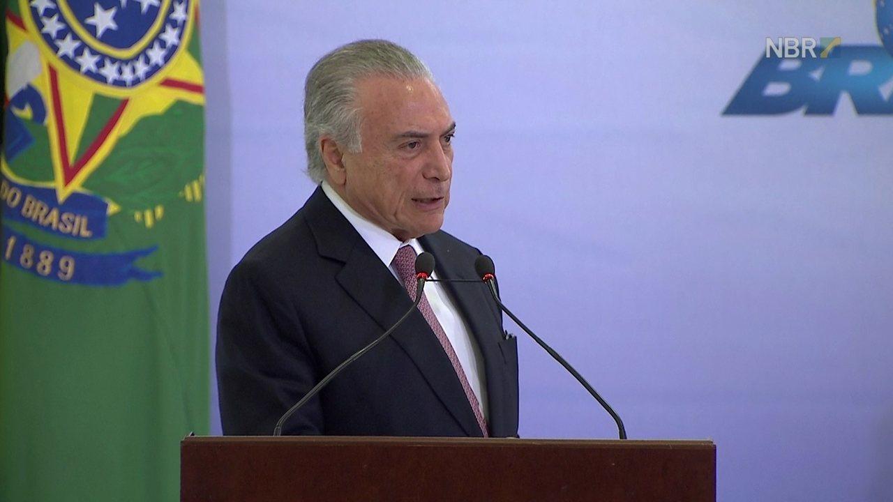 Temer fala em evento do Dia das Mulheres em Brasília