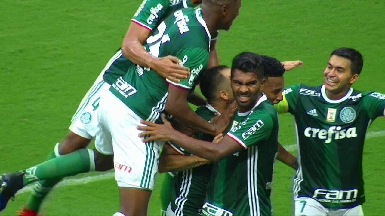 Os gols de Palmeiras 3 x 0 São Paulo pela 8ª rodada do Campeonato Paulista