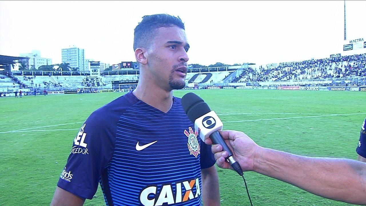 Leo Santos fala sobre seu primeiro gol pelo Corinthians